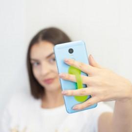 Silikonový úchyt na telefon zelený