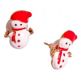 Vánoční náušnice - Sněhuláci