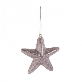 Nerozbitné baňky - hvězdy stříbrné