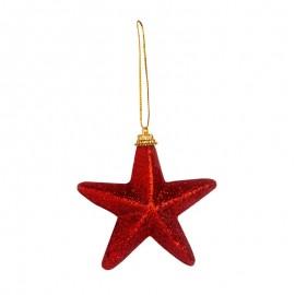 Nerozbitné baňky - hvězdy červené