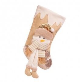 """Velká ponožka na dárky """"Sněhulák"""""""