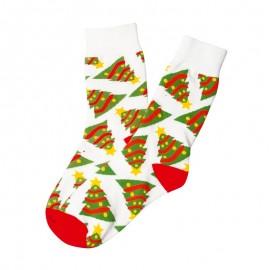 Vánoční ponožky bílé